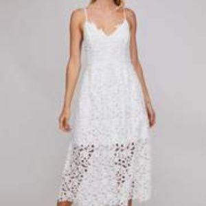 ASTR Lace A Line Midi Dress